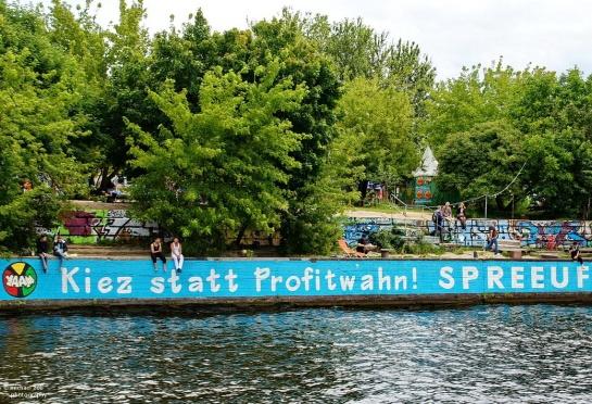 """""""Spreeufer für alle"""" in Friedrichshain/Kreuzberg richtet sich gegen Bauprojekte an der Spree"""